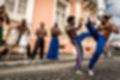 Group of people playing Capoeira in Salv