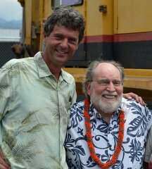 Mike and Governor Abercrombie at the AIr