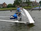 Colgate 26 testing capsizing, NYC, VT sailing with fun