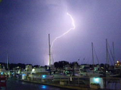 Thunderstorm at the LI Sound marina