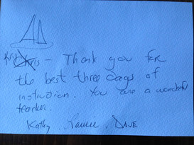 Griffin Sailing students testimonial, review, recommendation NYC