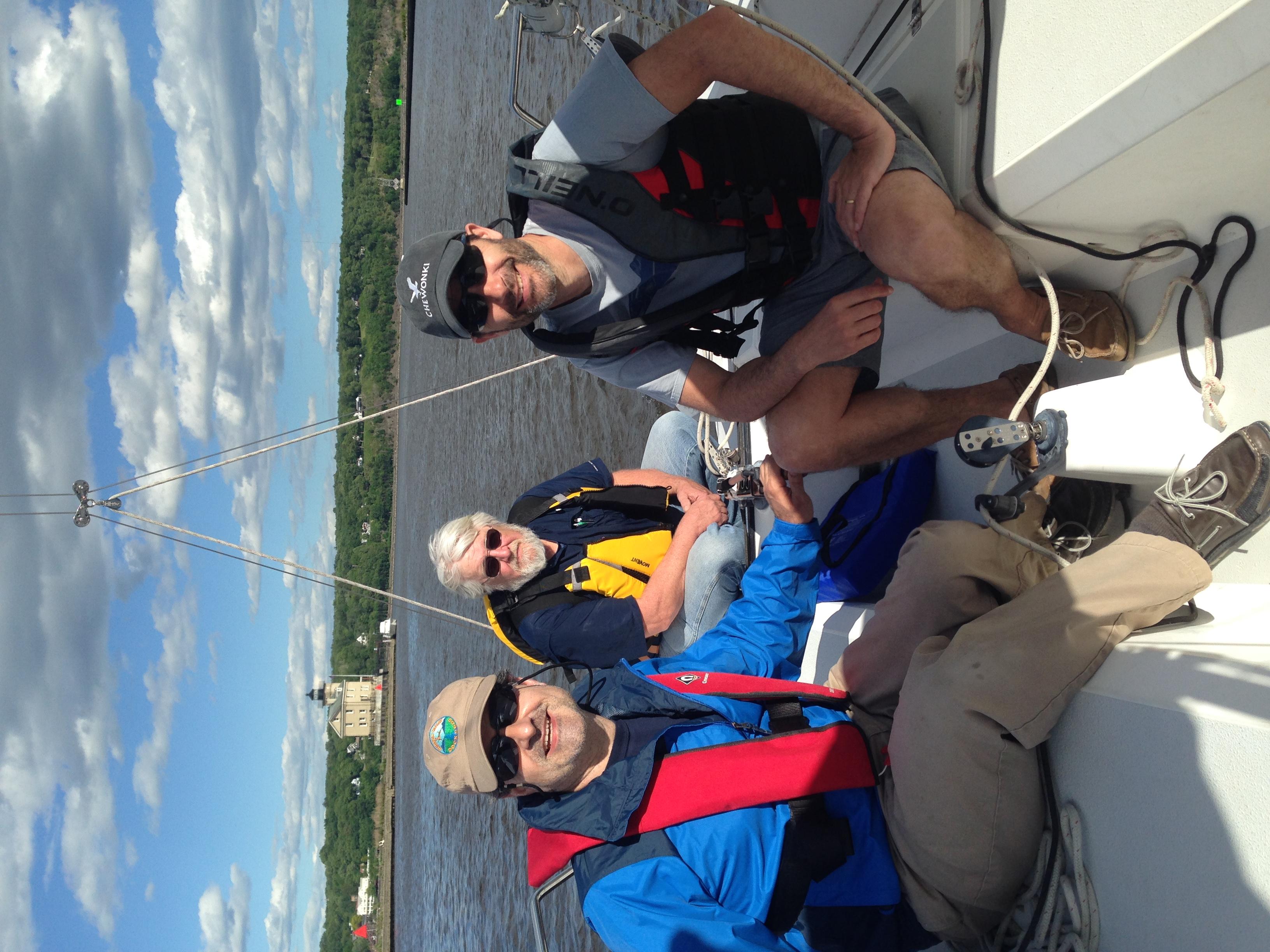 ASA 101 sailors, Hudson sailing NY