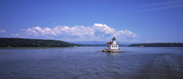 Hudson River sailing by the Esopus Ligthouse