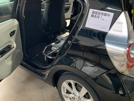 トヨタ アクア HVバッテリー交換 エンジンオイル交換 ハイブリッド メンテナンス