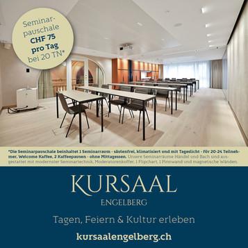 Seminarpauschalen im Kursaal Engelberg