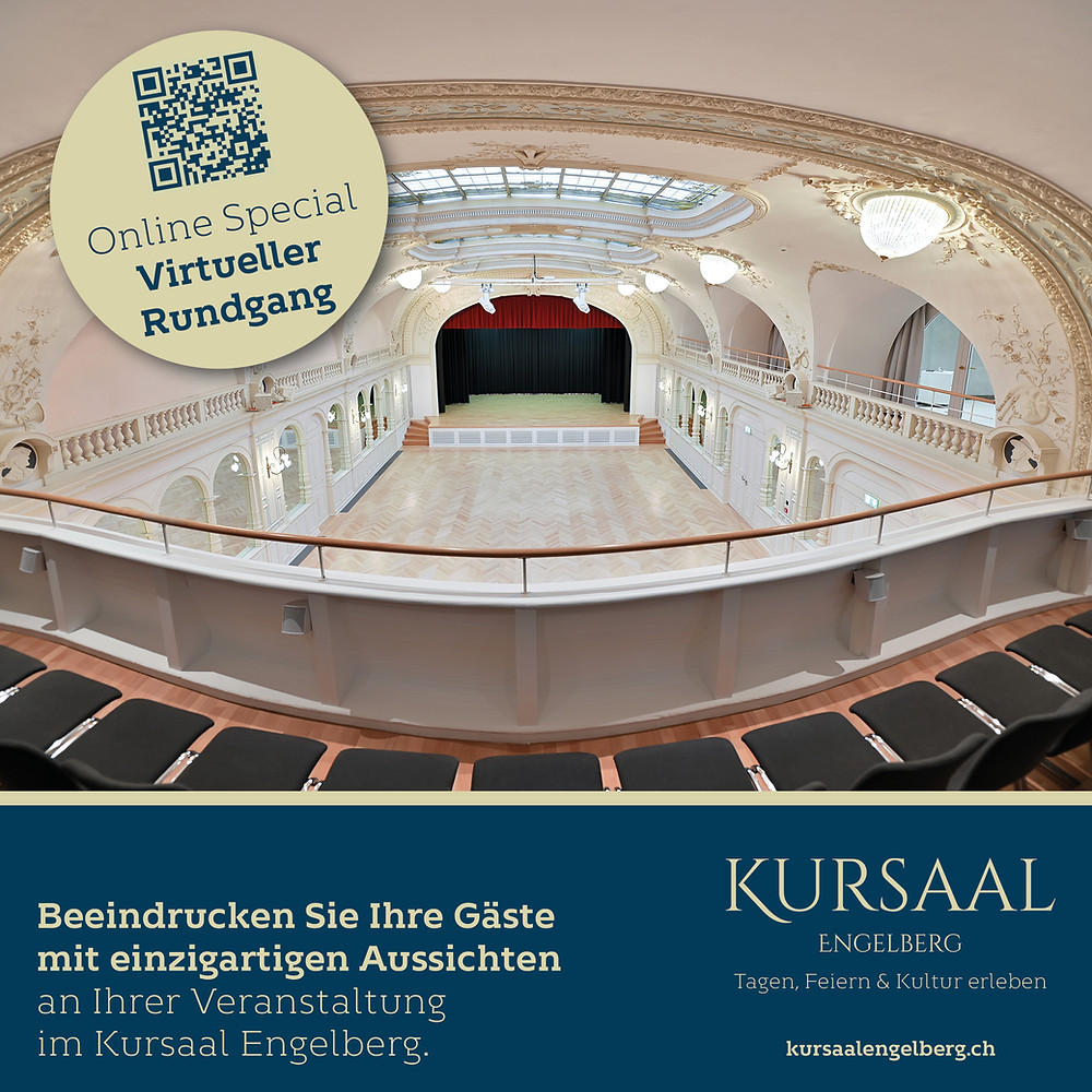 Kursaal Engelberg Blick von Empore Seminarlocation