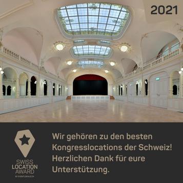 Kursaal Engelberg ausgezeichnet mit Swiss Location Award 2021