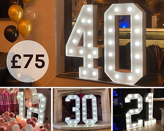 Hire Light Up Numbers Birthday