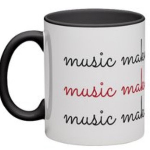 Music Makes me Smile Mug