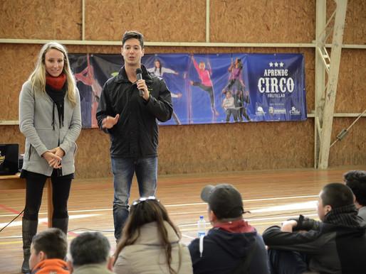 Artistas del Cirque du Soleil visitaron Escuela de Circo de Frutillar