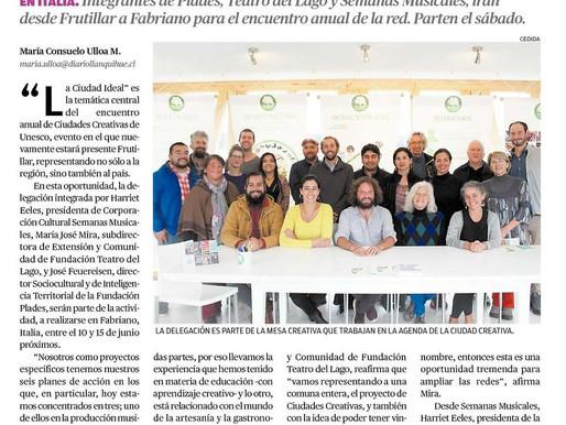 Comitiva representará a Chile en evento de ciudades creativas