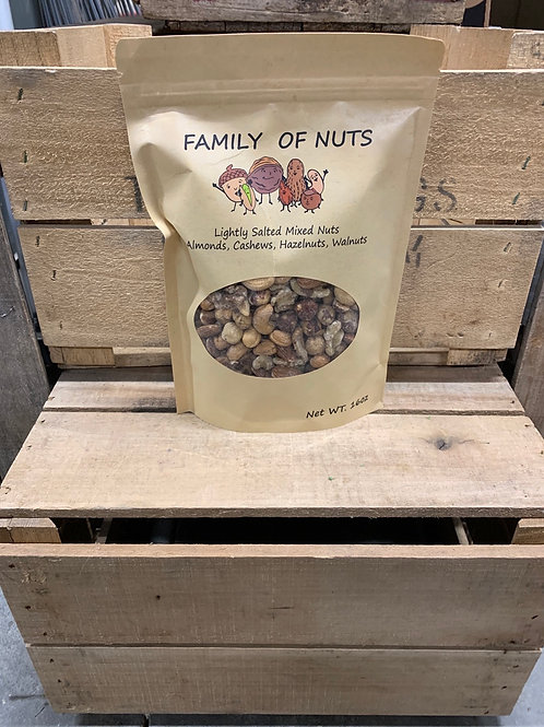 Mixed nuts: lightly salted 16oz