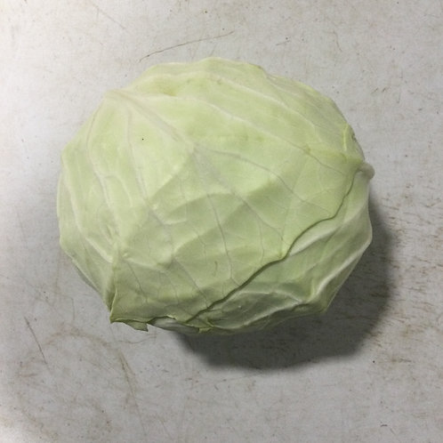 Cabbage: green medium size (about 2-3lbs)