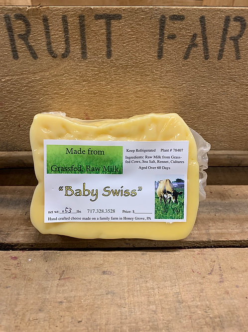 Cheese: Baby Swiss (approximately 1/2 pound)