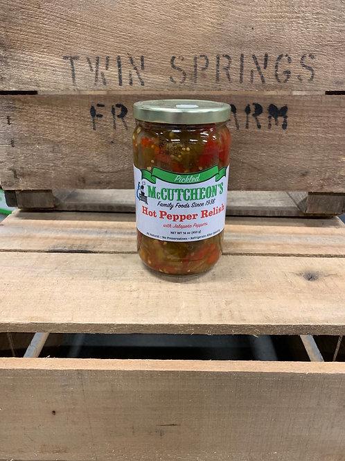 Hot pepper relish 16 oz jar