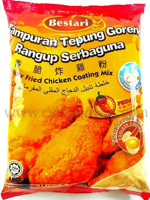 Bestari Crispy Fried Chicken Coating Mix Spicy ( 1 kg )
