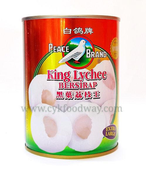 Peace Brand King Lychee Bersirap 白鸽牌黑叶荔枝王