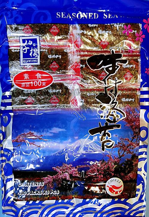 Seasoned Seaweed with Chili Taste ( 3 pcs x 100pkts )