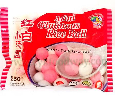 Mini Glutinous Rice Ball - Red & White BG ( 250 g )
