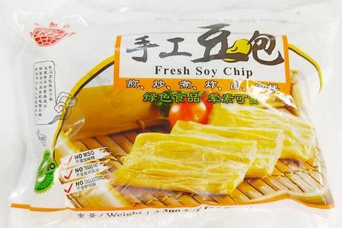 Yuba Fresh Soy Chip 手工豆包 (300g/pack)