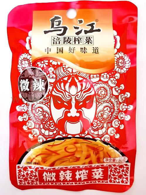 Wu Jiang Pickled Mustard Spicy  乌江脆口榨菜 微辣 ( 80 g )