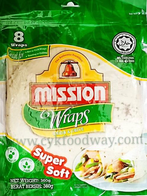 Mission Wraps Onion & Chive ( 360g / 8 pcs )