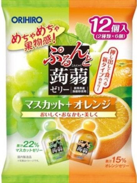 ORIHIRO日本蒟蒻果凍 (綠葡萄+柳橙)