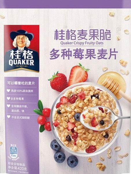 Quaker Crispy Fruity Oats Mix Berry  桂格麦果脆 多种莓果麦片 ( 420g )