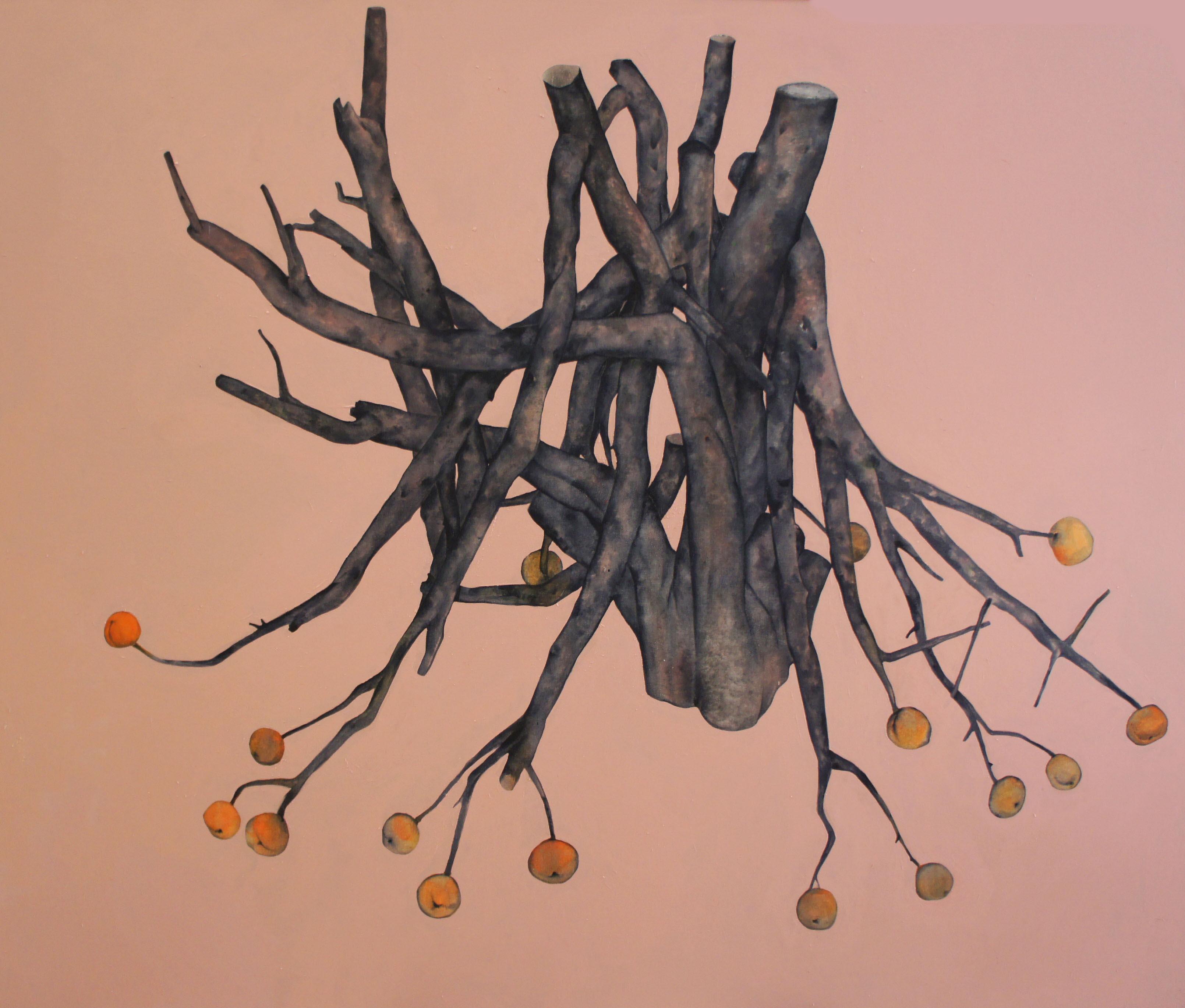 árbol con duraznos