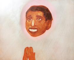 smiling praying boy
