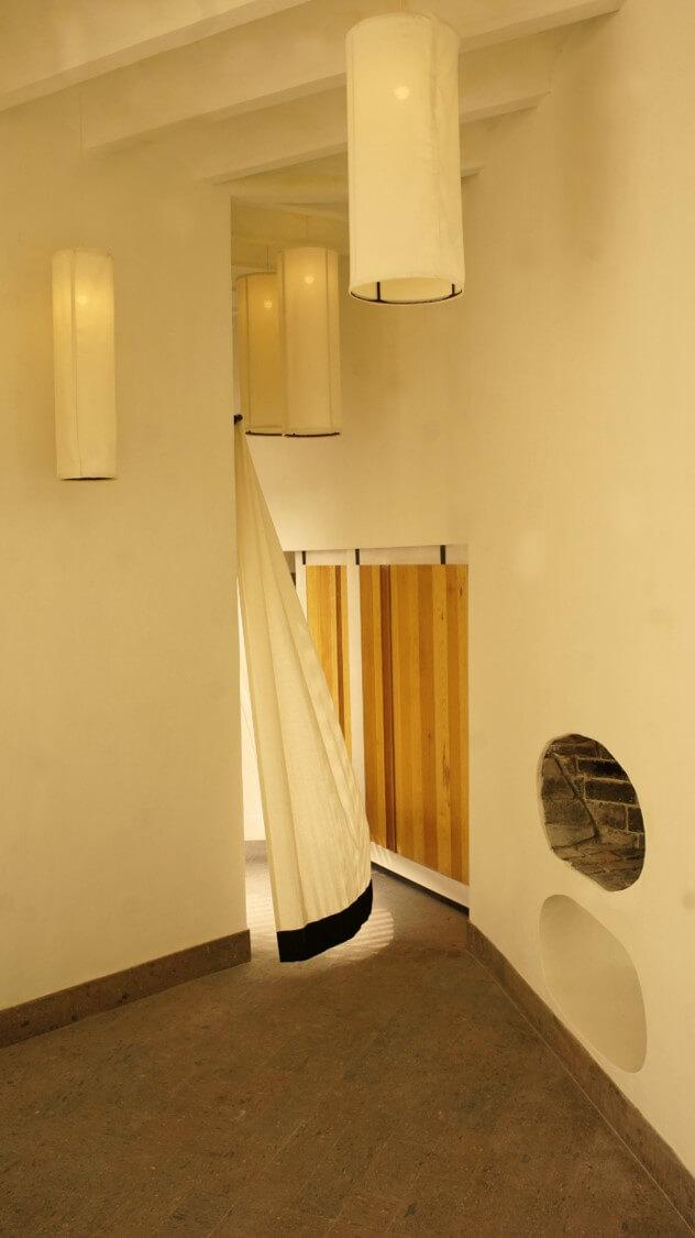 pasillo comedor cortina