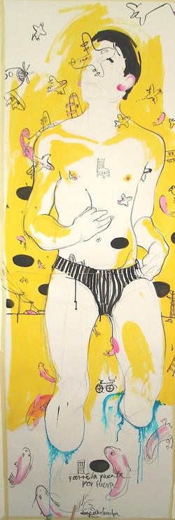 retrato amarillo