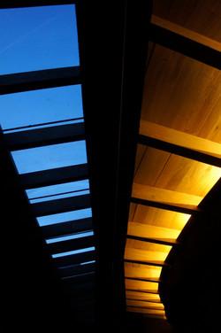 domo y techo de madera