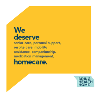 We deserve homecare. Personal Support