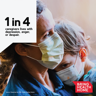 Bring Health Home. 1 in 4 Stat