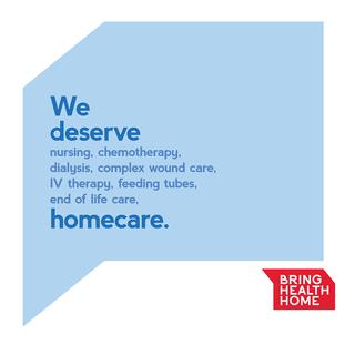 We deserve homecare. Nursing