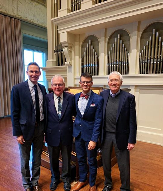Dr. Daniel Aune, Dr. John Walker, Jordan Prescott, and Dr. Donald Sutherland