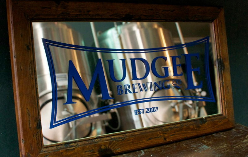 Mudgee Brewing Framed Etched Mirror