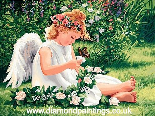 Angel Flower Garland 40*30