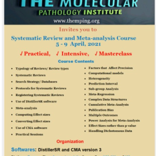 Systematic Review and Meta-Analysis Course
