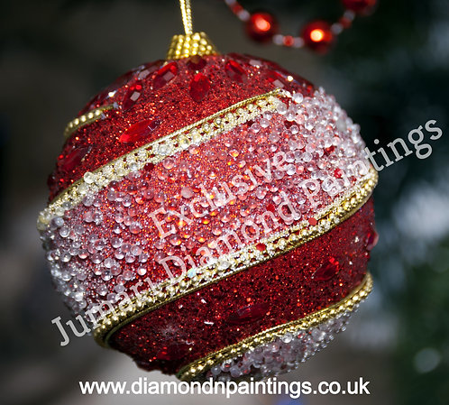Red Christmas Bauble 30*30