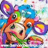 Colourful Cow  20*20