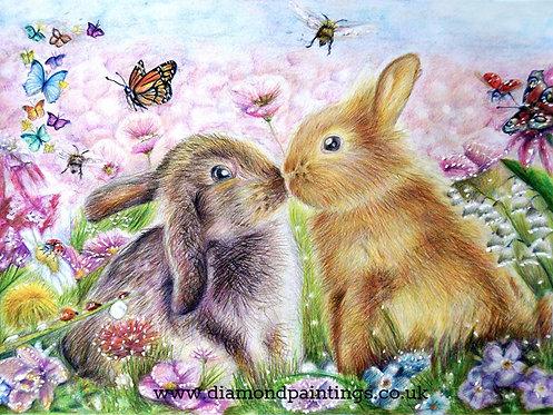 Easter Bunny Kiss 35*25
