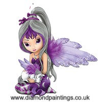 Purple Fairy 30*30 Round