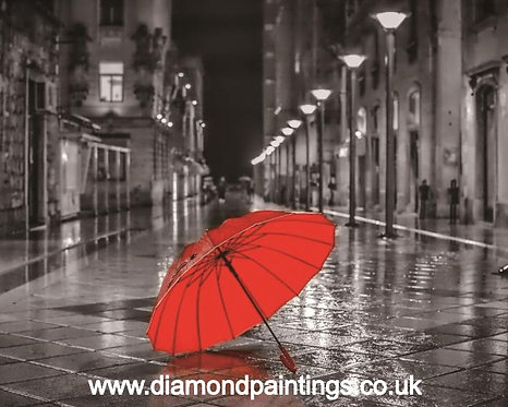 Red Umbrella 25 x 20