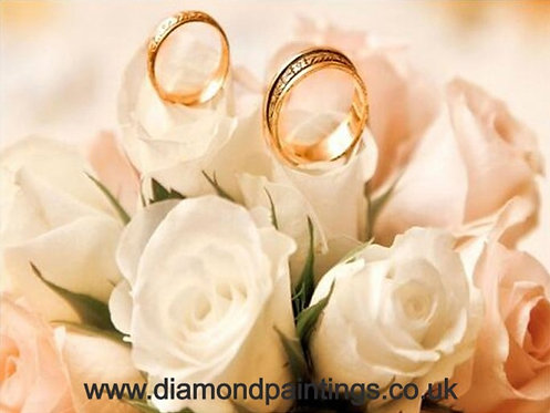 Wedding Rings & Roses 40*30