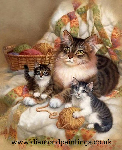 Mother Cat & Kittens 30*40