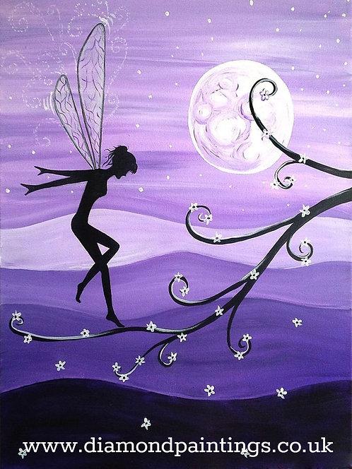 Purple Fairy Silhouette 30*40