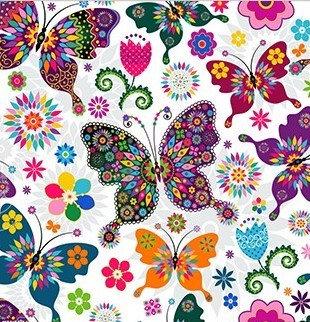 Flower Butterfly's 35*35