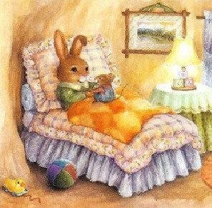 Rabbits Bed Time Stories 30*30